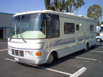 Jim Crawford Rv striping, graphics, and detailing before